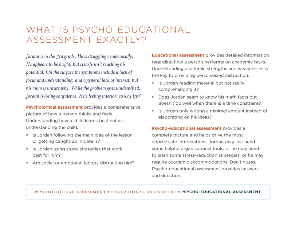 What is Psychological and Educational Assessment? - Educational ...
